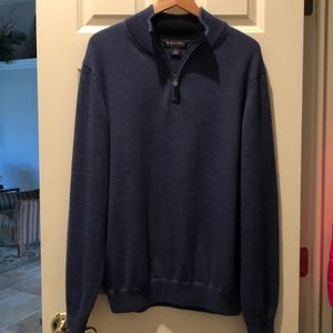 Brooks Brothers Blue Zip up sweater
